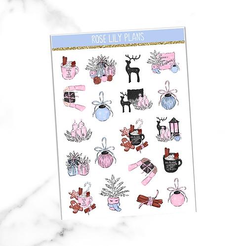 Winter Aesthetics Sticker Sheet