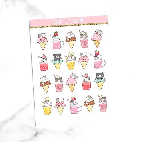 Summer Cats Sticker Sheet