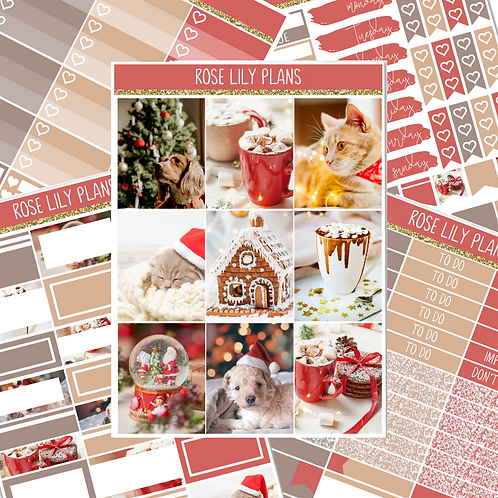 A Pet's Christmas Sticker Kit