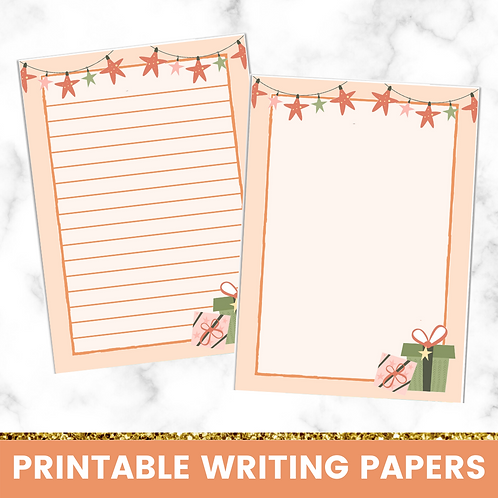 PRINTABLE | Presents Writing Papers