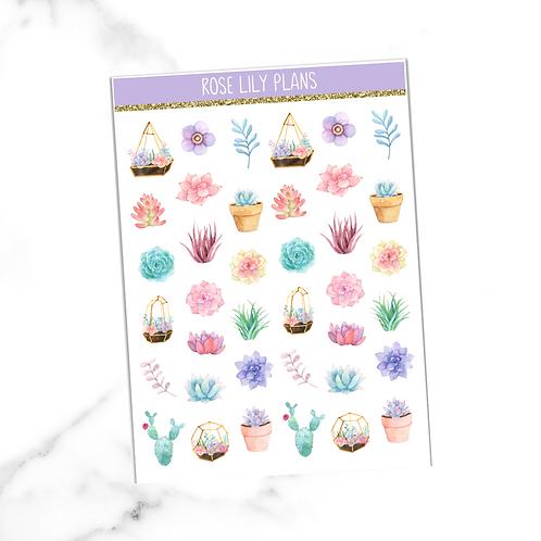 Floral 017 Sticker Sheet