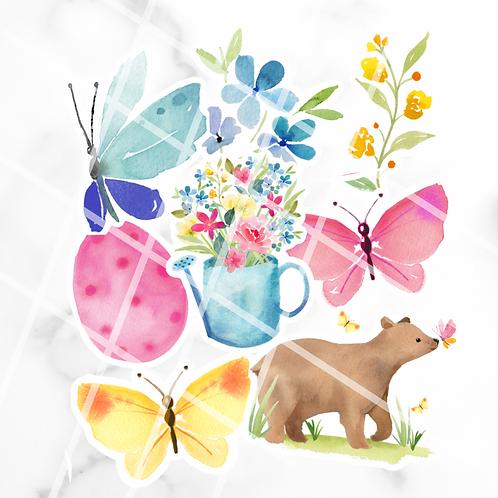 Spring Animals Sticker Pack #1
