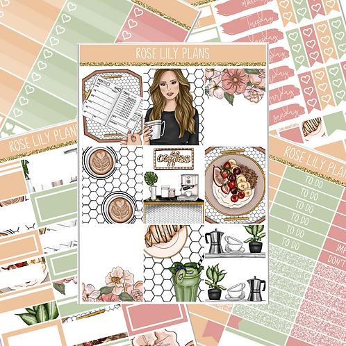 Cafe Au Lait Sticker Kit