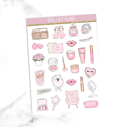 All Things Pink Sticker Sheet