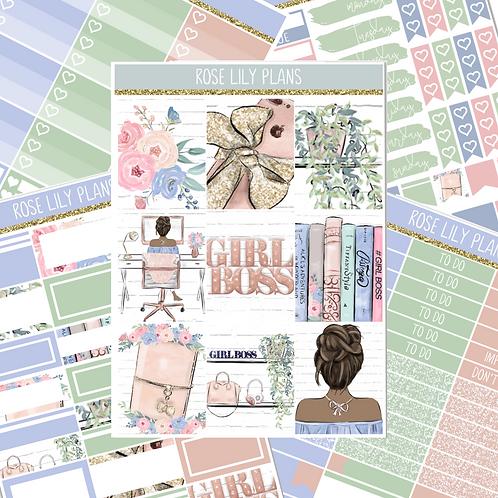 Planner Girl Sticker Kit