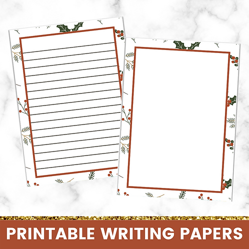 PRINTABLE | Holly Writing Papers