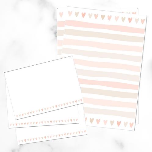 Hearts Writing Set