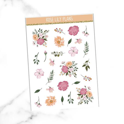Floral 005 Sticker Sheet