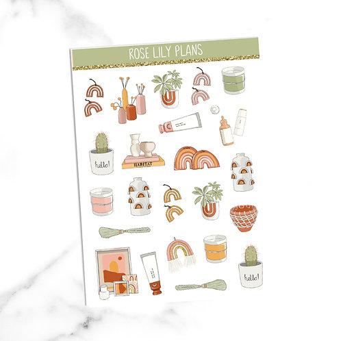 Home Life Sticker Sheet