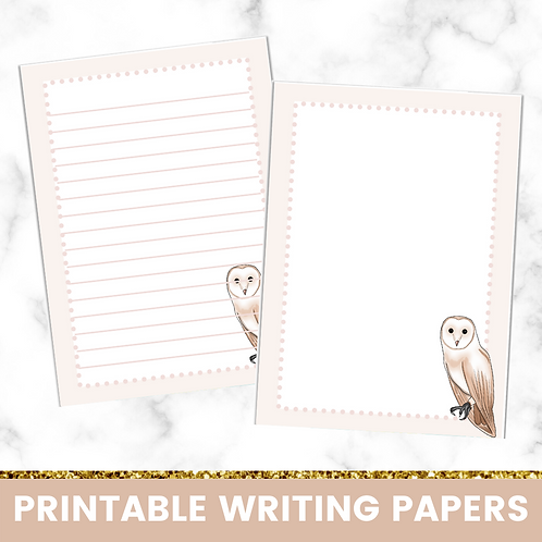 PRINTABLE | Owls Writing Papers
