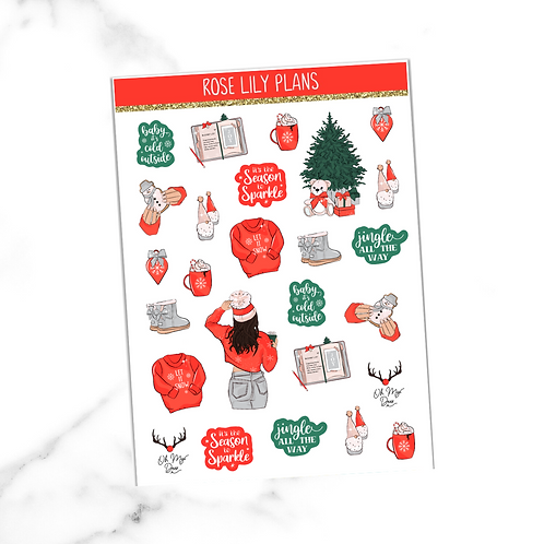 Season To Sparkle Sticker Sheet
