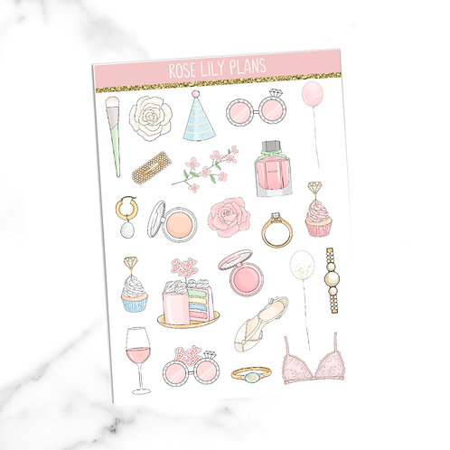 Bride To Be Sticker Sheet