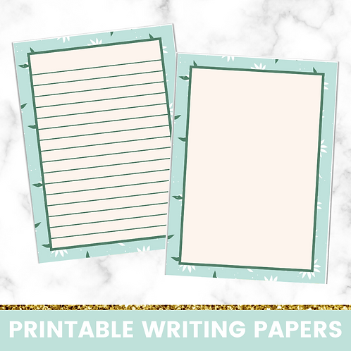 PRINTABLE | Daisies Writing Papers