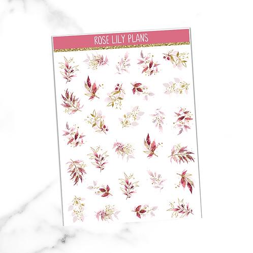 Floral 010 Sticker Sheet