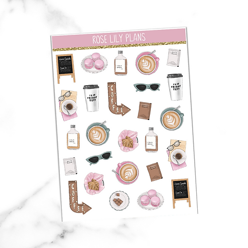 Coffee Society Sticker Sheet