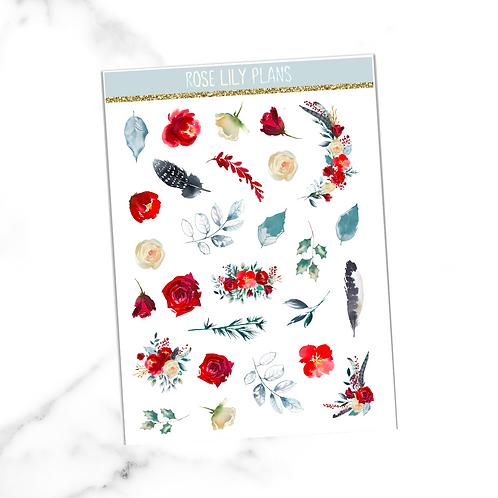 Floral 018 Sticker Sheet