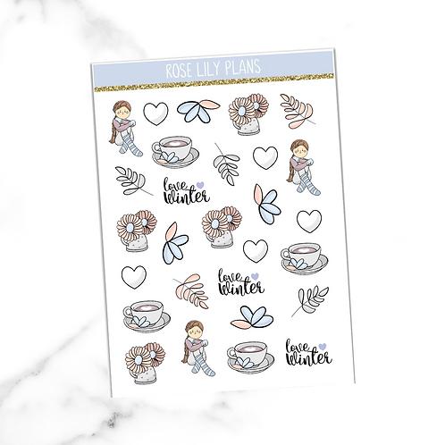 Love Winter Sticker Sheet
