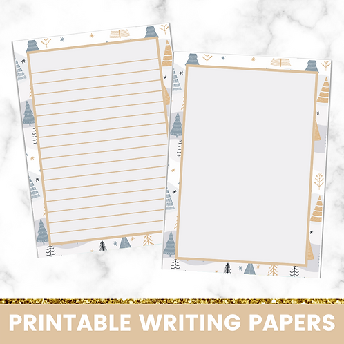 PRINTABLE | Trees Writing Papers