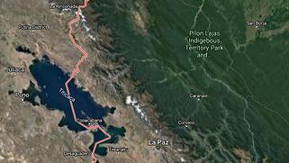 Aerial view Bolivia