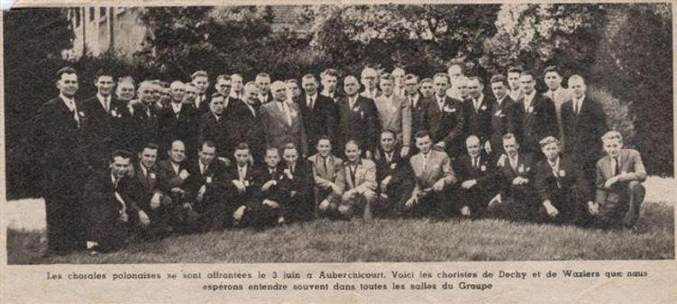 Chorale des mineurs en 1950