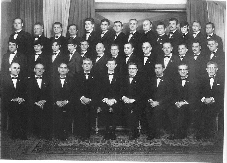 Chorale des mineurs en 1966