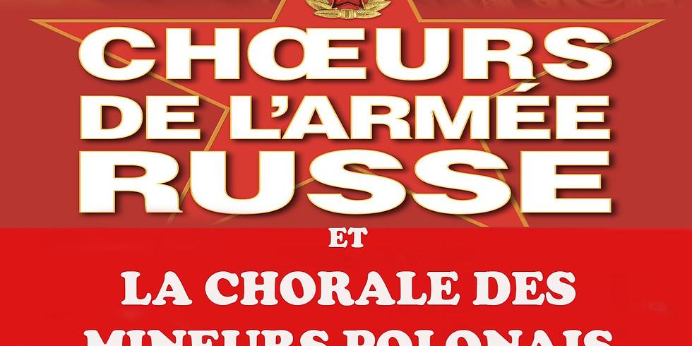 Choeur de l'armée russe et Chorale des mineurs polonais de Douai à la collégiale Saint-Pierre de Douai