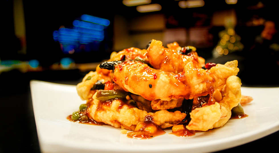 Fried Shrimp with Chili Sauce