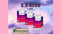 Oferta de cartuchos Spectra 3 x $100