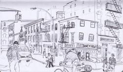 Bleeker Street handdrawn sketch