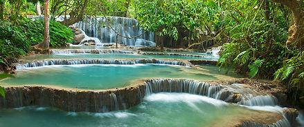 Tad Se, Laos is home to hundreds of waterfalls