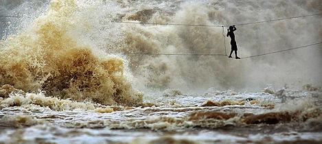 Khone Falls Laos Filming