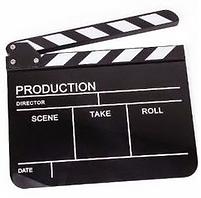 Clapper board Filming Asia