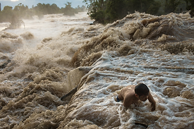 Fishermen of the Khone Falls Laos