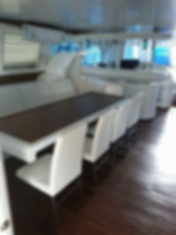 Saloon Dning Stimulus Yacht Charter