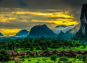 Mountain Landscape Filming Laos