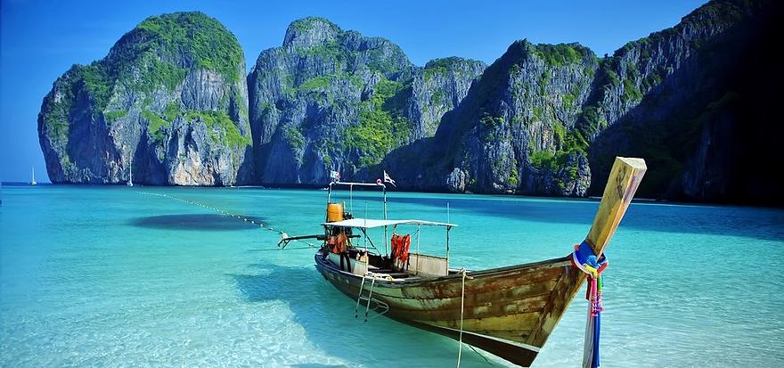 Beach and Limestone Cliff Filming Thailand