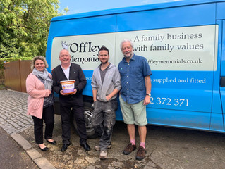 Offley Memorials raise £529 for Chums Charity