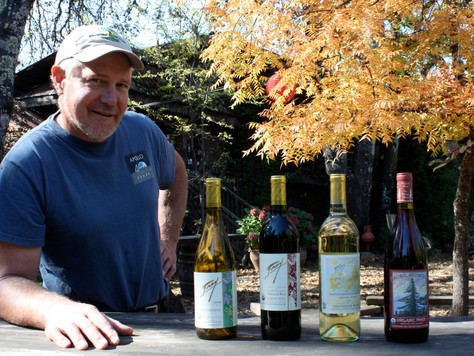Frey's Organic Wine - Two of our favorite things!