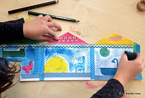 atelier créatif enfants déplacement dans les classes
