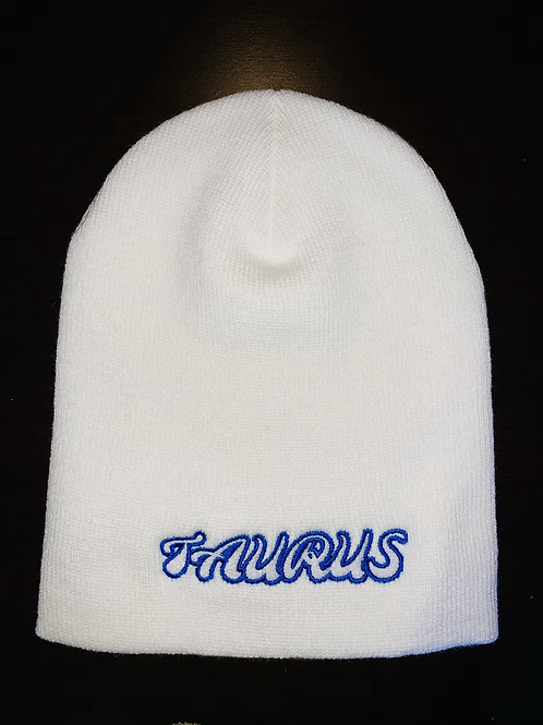 White Taurus Zodiac Beanie (Special Edition) + free mini reading
