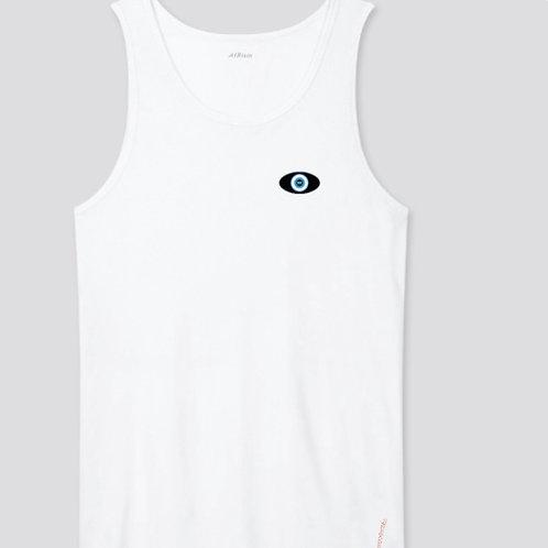 White Tank - Black Evil Eye Logo (Unisex) SOLD OUT