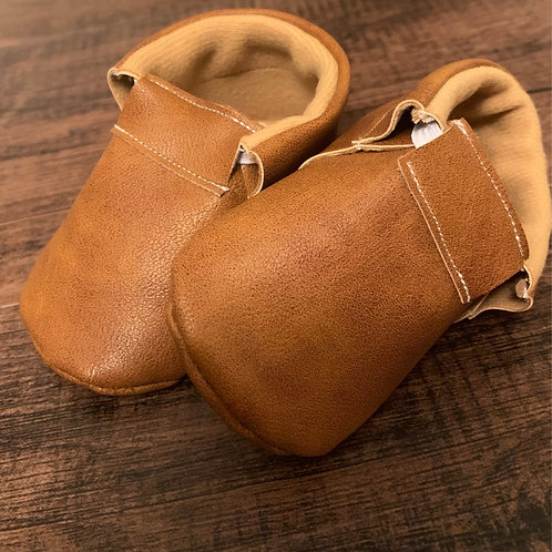 Brushed Saddle Brown Moccasins