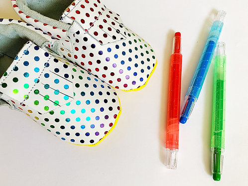 Color Dot Moccasins