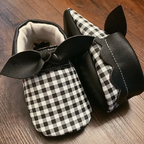 Perfectly Plaid knotted bow moccasins