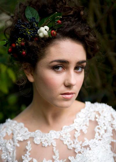 Autumnal bridal makeup