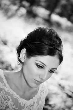 Vintage bridal beauty shot