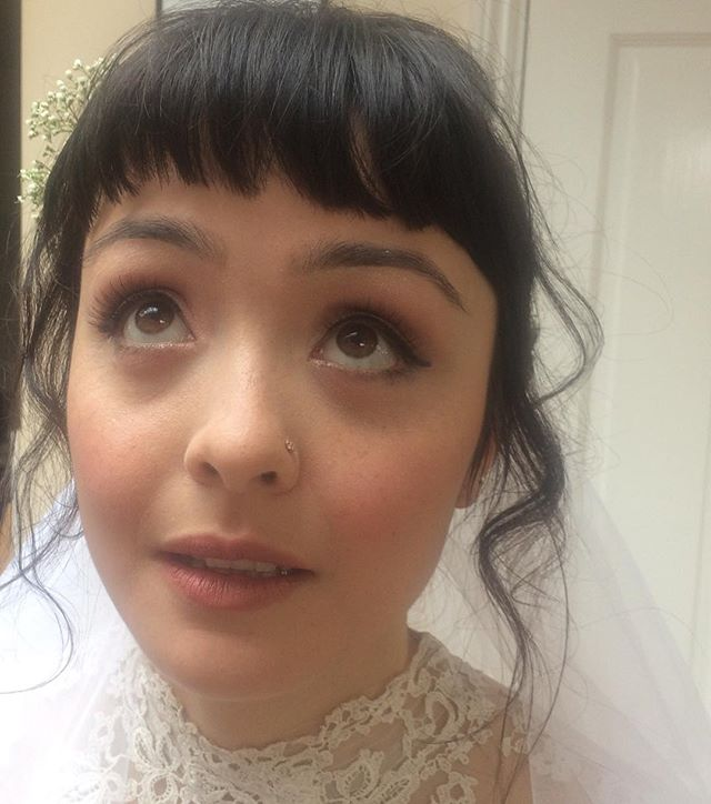 Boho wedding hair and makeup by me