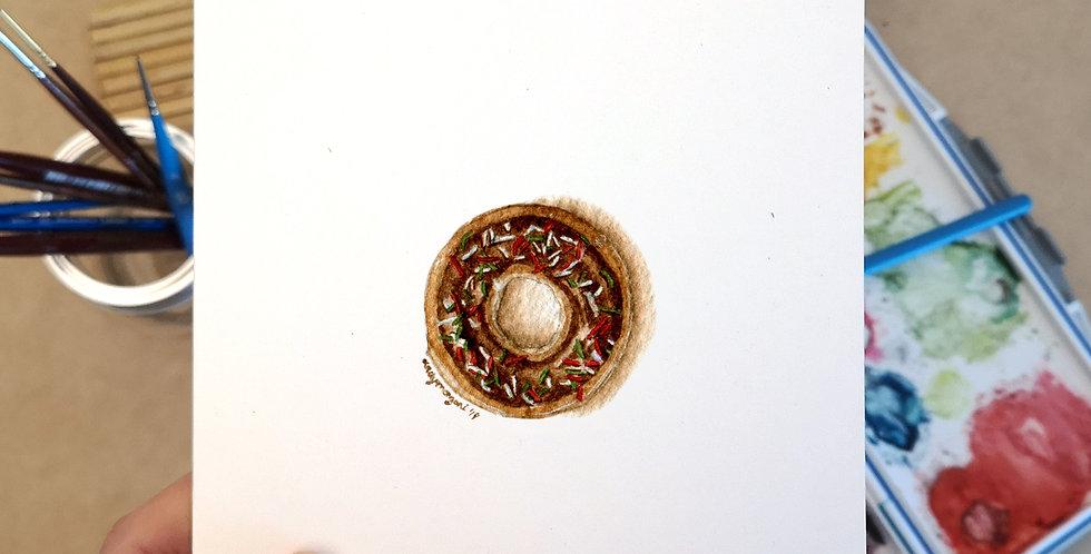 Christmas Doughnut - Christmas Card