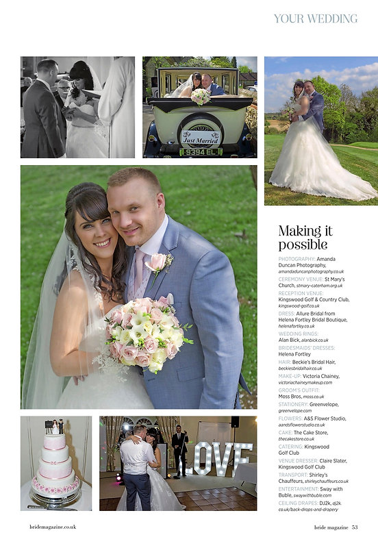 Surrey Bride - Kingswood Golf Club wedding