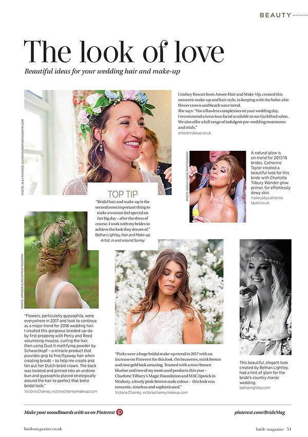 London Bride makeup & beauty tips
